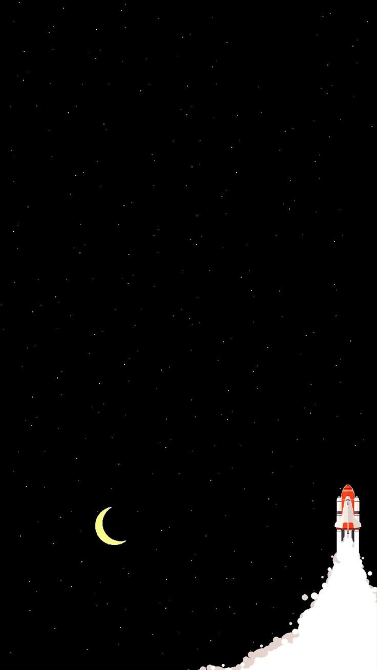 Cool Starry Night Space Rocket iPhone 6 Wallpaper