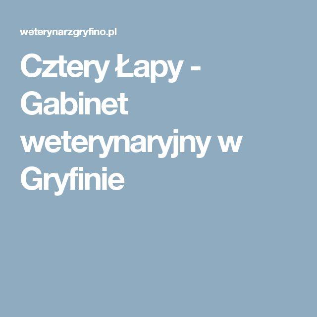 Cztery Łapy - Gabinet weterynaryjny w Gryfinie