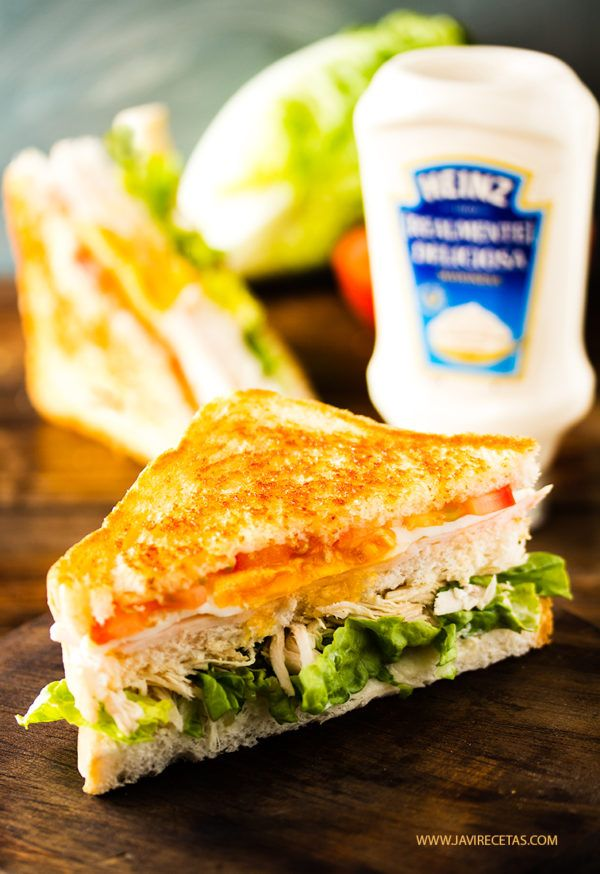 Este fin de semana tienes que preparar este Sándwich de Pollo si o si!!!!  #MayonesaHeinz