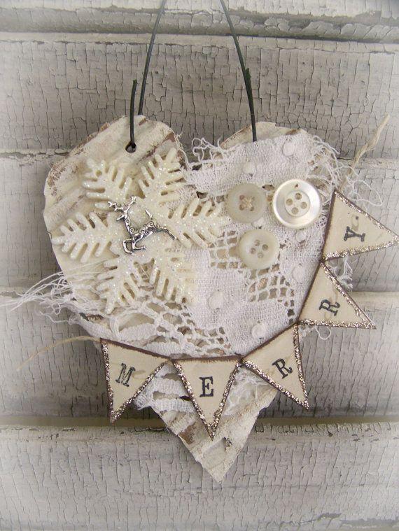 Handmade Christmas Ornament Vintage Lace Ornament