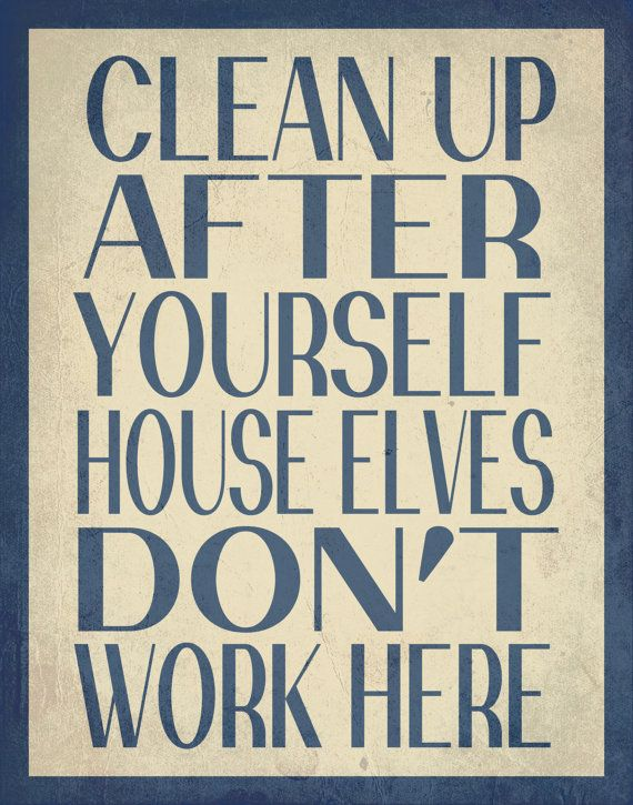 Harry Potter Typography // House Elves Don't by EntropyTradingCo