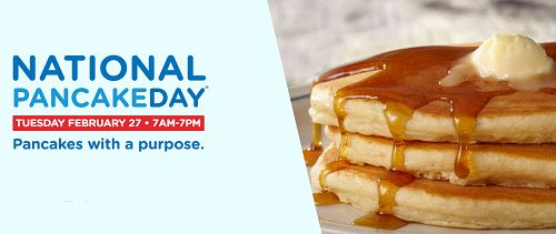 FREE Pancakes at IHOP for National Pancake Day February 27