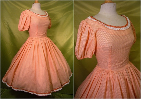 Vintage Dress  1950s Rockabilly Full by QuirkVintageClothing, $42.50