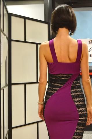 tango dress with lace sides by conDiva - Available in many colors #condivatangoclothes #tangodress #argentinetangofashion