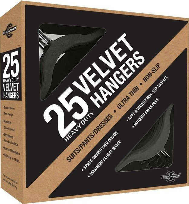 Velvet No-Slip Hangers That Match | 25 Things You Need To Live Like An Actual Adult