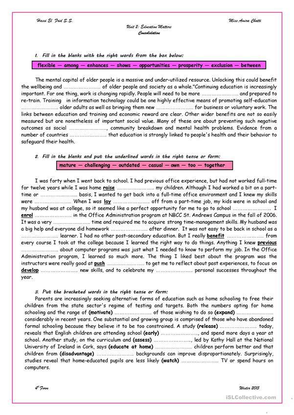 Unit 2 Revision Bac Anglais