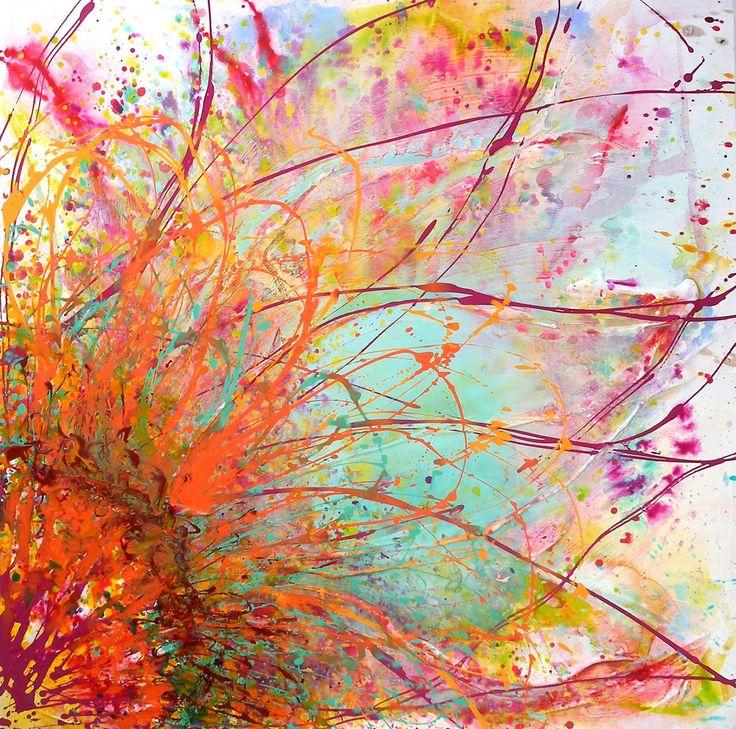 Brilliant Bloom is a big flower painting | Caroline Ashwood