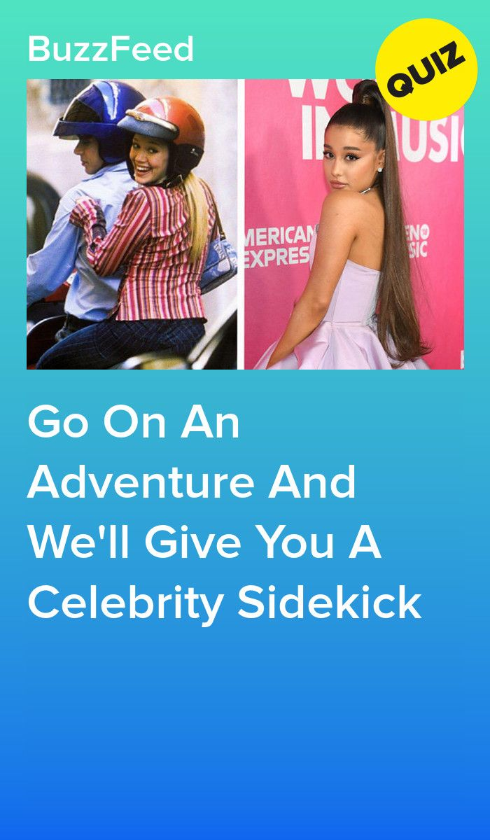 Go On An Adventure And We'll Give You A Celebrity Sidekick