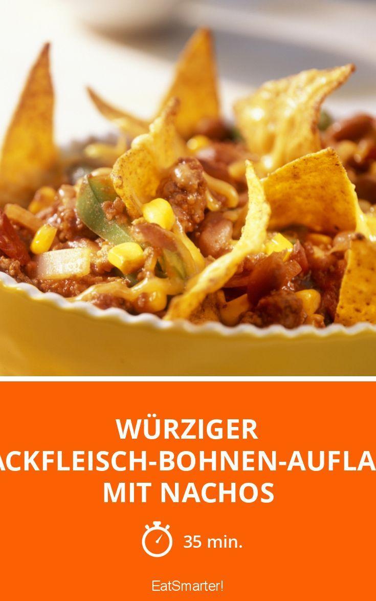 Würziger Hackfleisch-Bohnen-Auflauf mit Nachos - smarter - Zeit: 35 Min. | eatsmarter.de