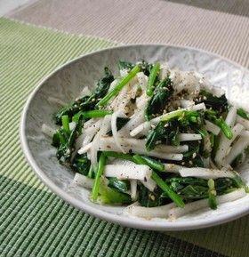 ほうれん草と大根のナムル風サラダ by moj [クックパッド] 簡単おいしいみんなのレシピが239万品