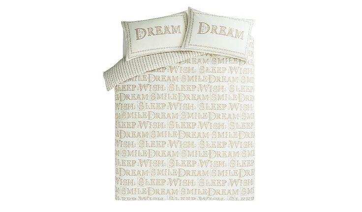 George Home Natural Dream Print Duvet Set, read reviews and buy online at George at ASDA. Shop from our latest range in Home & Garden. Dream a little dream (...