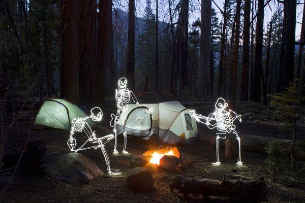 Camera trick- Skeletons Camping.