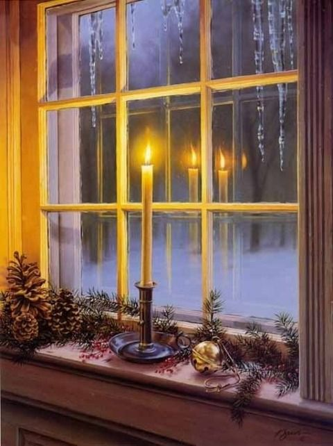 Place a lit candle in your window to signal welcome, and to honor the holy family, a Scottish tradition.
