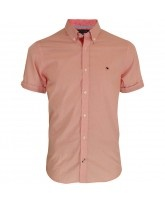 Mens #Tommy #Hilfiger Joseph Checkered Shirt in Strawberry AT JUST £69.00