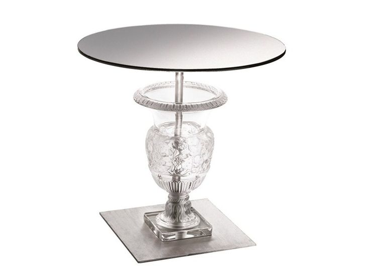 Round crystal side table versailles interior decoration - Residence de haut standing amsterdam marcel wanders ...