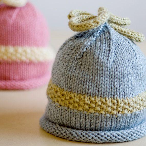 Knitting Bias Stockinette : Baby hat knit crochet hats pinterest knitted