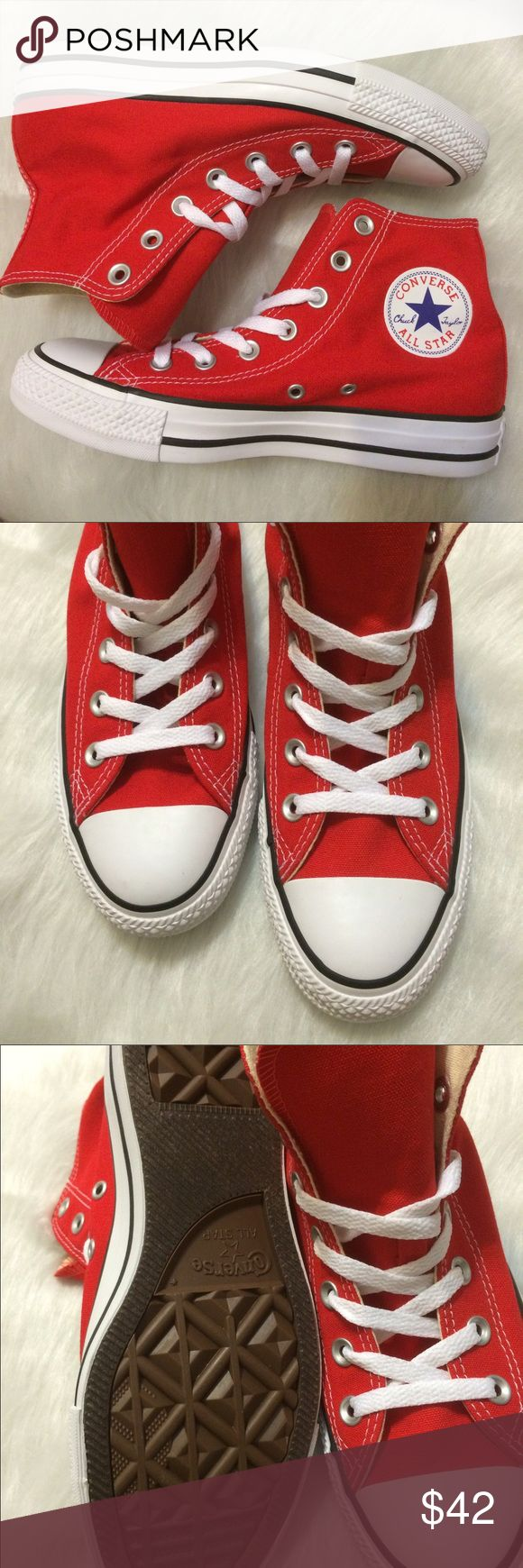 FLASH SALE  CONVERSE WOMENS RED SHOES HI TOPS Brand new without box Converse Shoes Sneakers