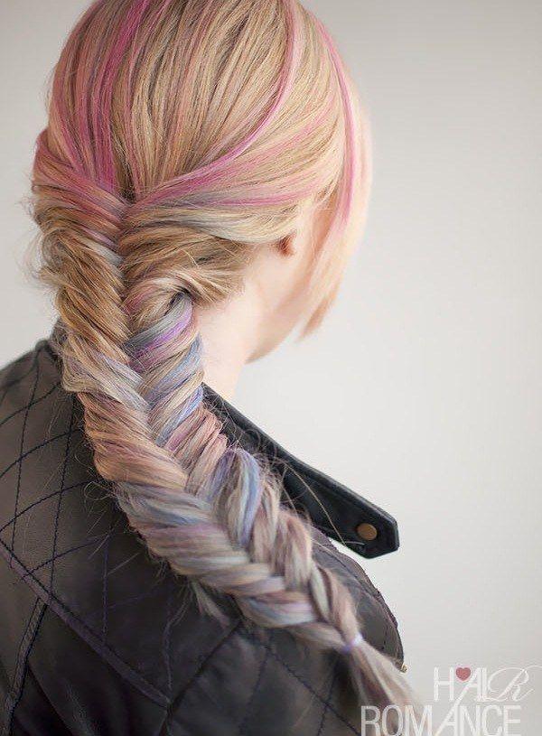 Hair Chalking Is A Super Fun Way To Make A Braid Pop With