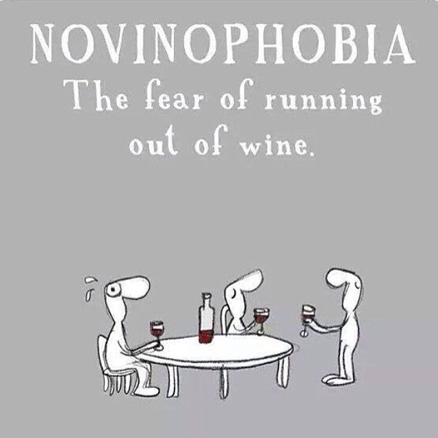 NOVINOFOBIA = El miedo a quedarse sin vino #WineUp NOVINOPHOBIA = The fear of running out of wine #WineUp