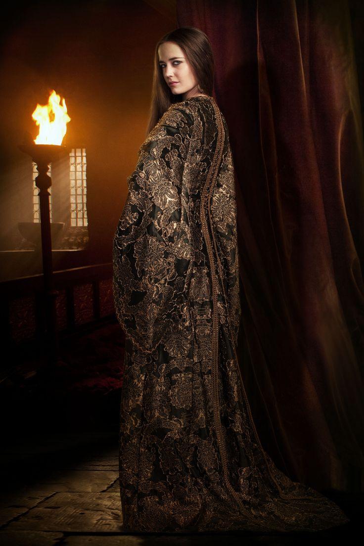 Eva Green As Morgan In Camelot Tv Series 2011 Series Costume Design By Joan Bergin