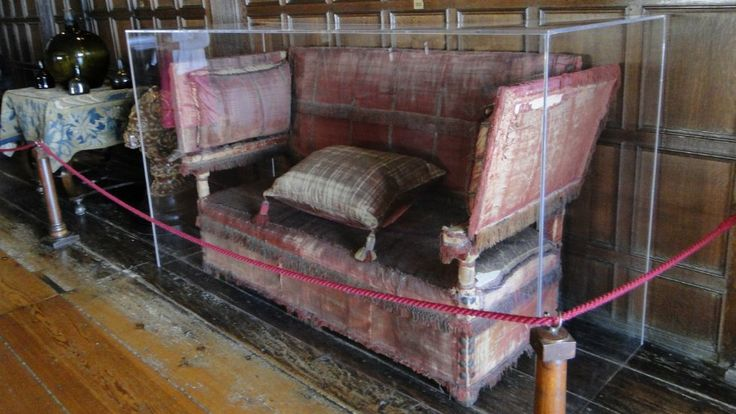 The original Knole sofa: ancestor to the modern sofa. - Knole House (Museum), Kent, England.