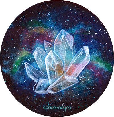 Space crystal galaxy art by SpaceKacy