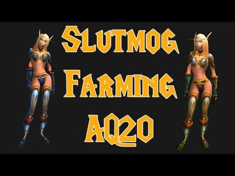 Gold Farming AQ20 for Slutmog Gear - 4000g to 20000g an hour