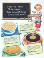 Soup Campbell 1948 Advertisement via the advertising gallery   – Food
