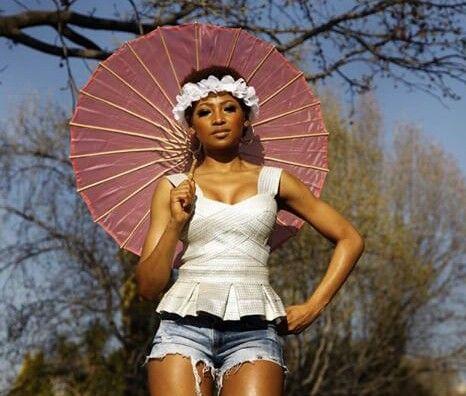Enhe Mbali Mlotshwa looking dazzling in a #NicciBoutique silver bustier