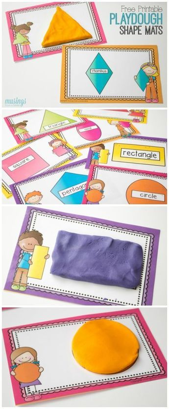 Children won't even realize they're learning as they enjoy these playdough shape mats! Perfect for at-home play or preschools, this simple activity helps with dexterity too. Download your free printable shape mats for kids here: (sponsored)