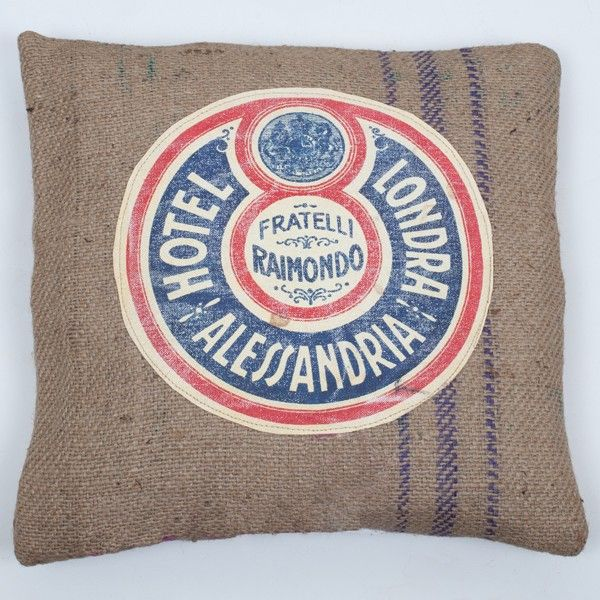 "Fratelli ""Vigoureux"" Cushion - 50cm L x 50cm W - These bucolic hessian cushions are raw,uncontrived and highly collectable.  A great decorative piece to personalise your homes outdoor area apartments and warehouse conversions."