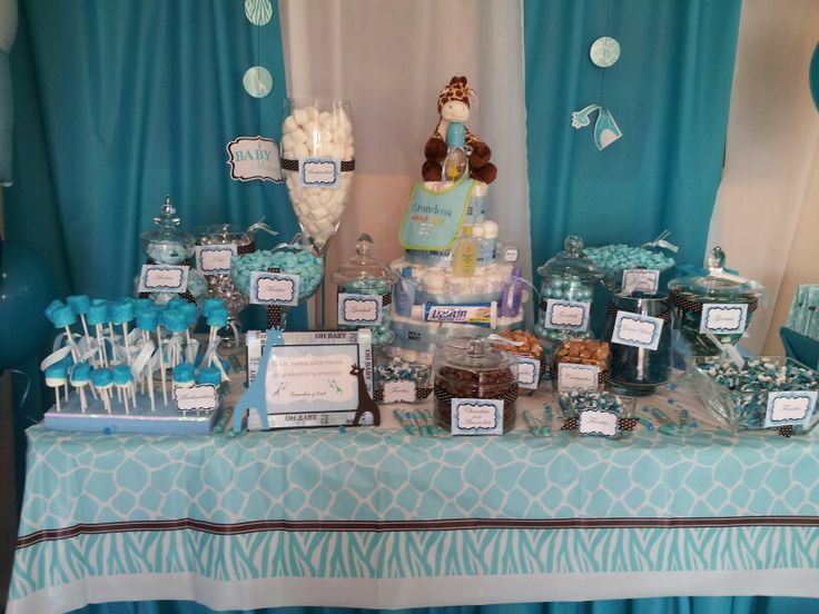 Captivating Baby Shower Candy Buffet
