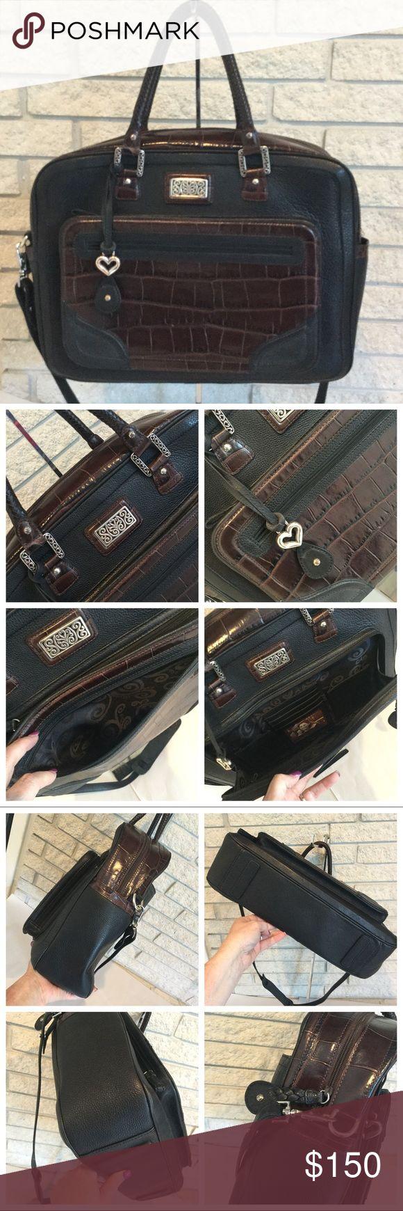 NWOT Brighton Leather Laptop Briefcase Bag NWOT Br…
