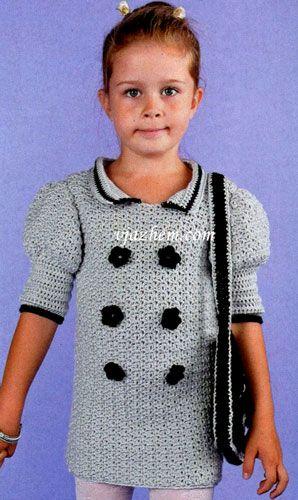 Платье для девочки крючком. Схема и текстовое руководство