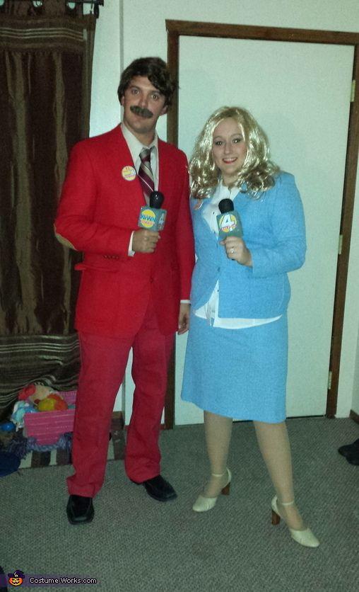 Ron Burgundy and Veronica Corningstone - Halloween Costume Contest via @costume_works