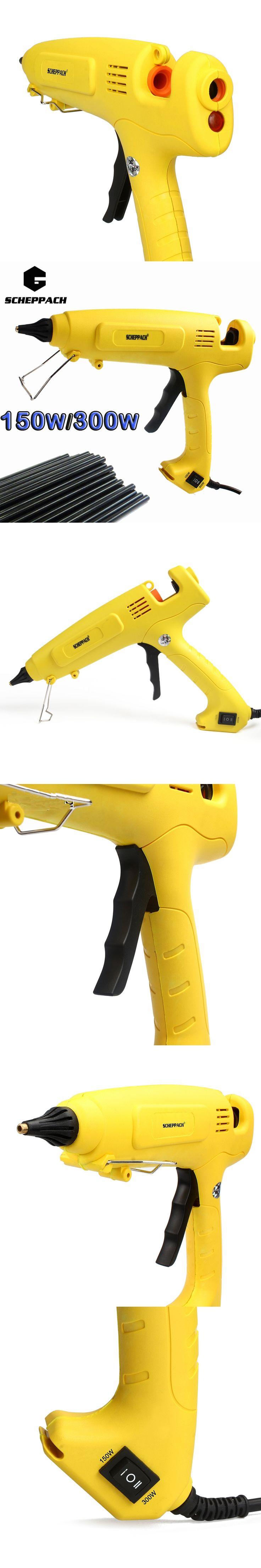 Crazy Power 150W/300W Hot Melt Glue Gun EU Plug Adjustable Professional Copper Nozzle  Heater Heating Wax 11mm Glue stick
