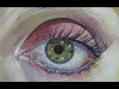 Cómo pintar un ojo realista con acrílico paso a paso - Explicado - YouTube