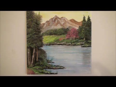 Cómo Dibujar un Paisaje al Pastel Paso a Paso - Cómo Dibujar Árboles y reflejos en el agua -Tutorial - YouTube