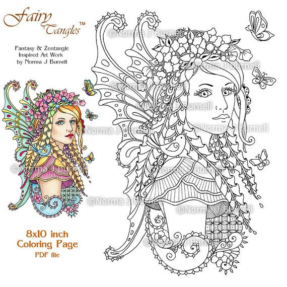 fairy coloring pages for adults pdf