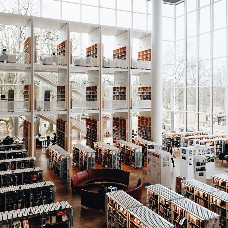 Experience the Beauty of Libraries Around the World Through This Instagram Series,Malmö City Library. Image ©️️ Olivier Martel Savoie, /une_olive/