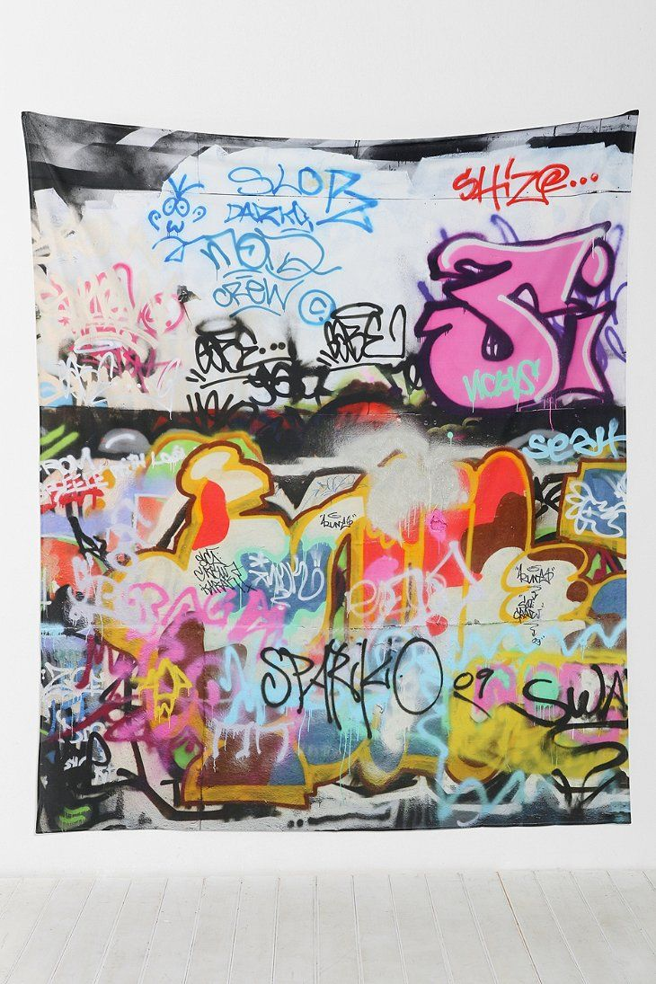 102 best graffiti wall coverings images on pinterest graffiti shop graffiti tapestry at urban outfitters today we carry all the latest styles colors and brands for you to choose from right here amipublicfo Gallery