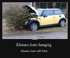 Kleines Auto hungrig. | Lustige Bilder, Sprüche, Witze, echt lustig