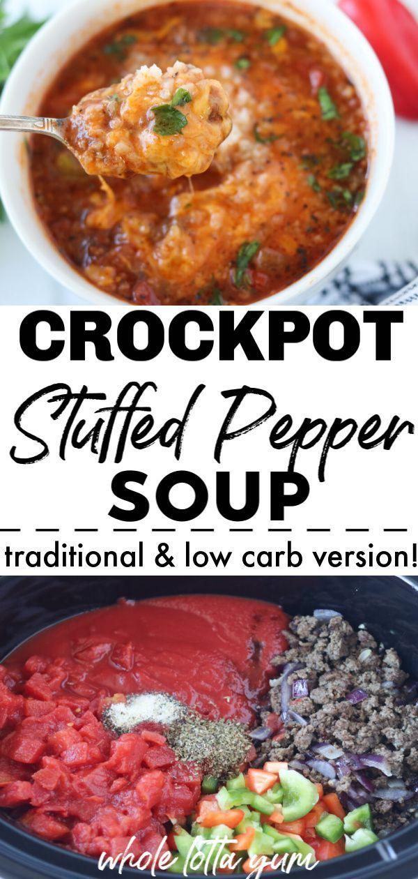 Easy Stuffed Pepper Soup Recipe Crockpot Ip Stove Recipe