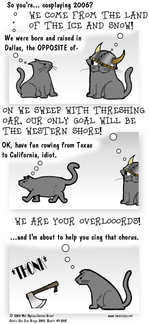 Viking Kitty Reference!   Two Lumps: The Adventures of Ebenezer and Snooch