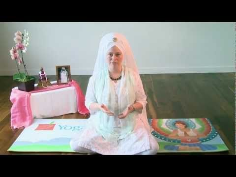 """Healing the Heart - Celestial Communication with Adarsh Kaur. 3 minutes of soul-filled meditation to the mantra, """"Guru Guru Wahe Guru."""" You will be filled with love and healing will overflow from your heart and radiate out into the world."""