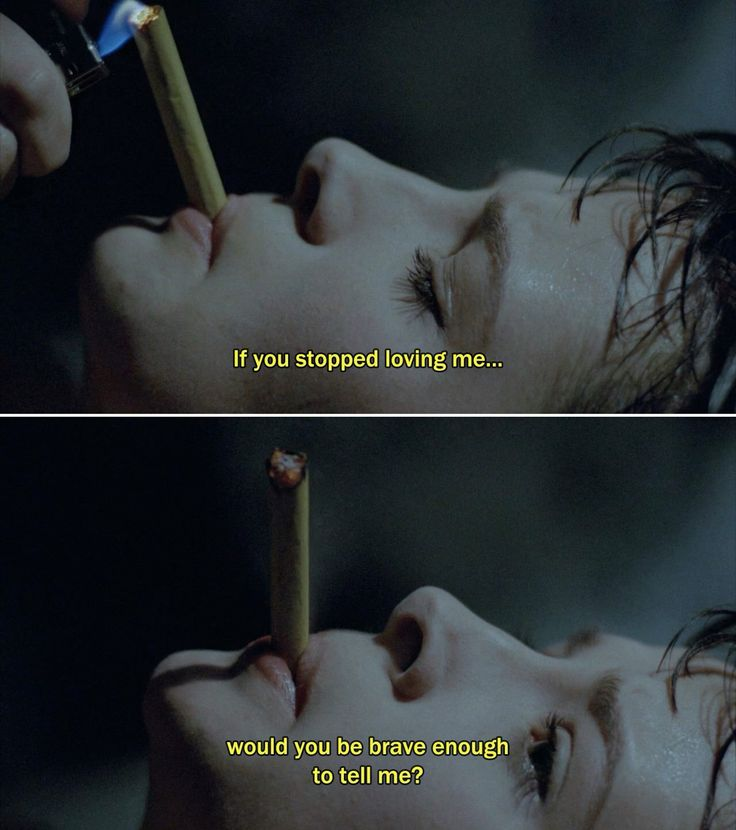 """If you stopped loving me, would you be brave enough to tell me?"" - Juliette Binoche in Leos Carax's ""Mauvais Sang"" aka ""The Night Is Young"", 1986."