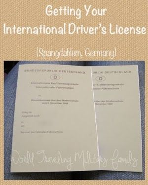 International Drivers License – Spangdahlem, Germany. A first-hand report of how to get an international driver's license in Germany.