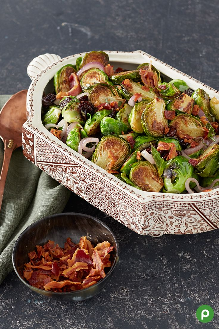 Brussels Sprouts with Pancetta, Shallots and Cherries recipe from Publix. Try this flavorful Thanksgiving recipe.