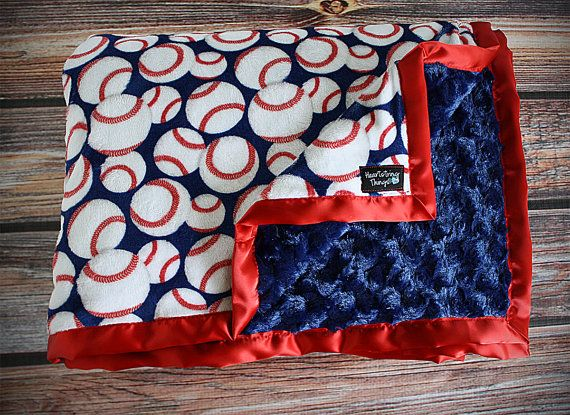 Minky blanket Baby blanket sports blanket by HeartstringThings, $20.00