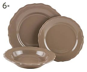 set di piatti in stoneware claire tortora 18 pz home decor pinterest 18 cucina and in